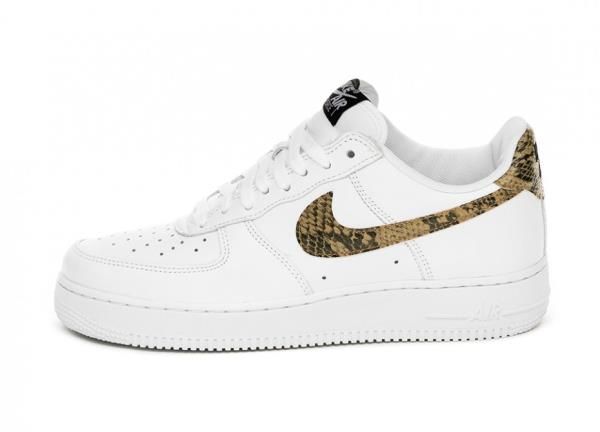 Nike Air Force 1 LOW PRM QS Avorio SNAKE BIANCO Taglia 8 9