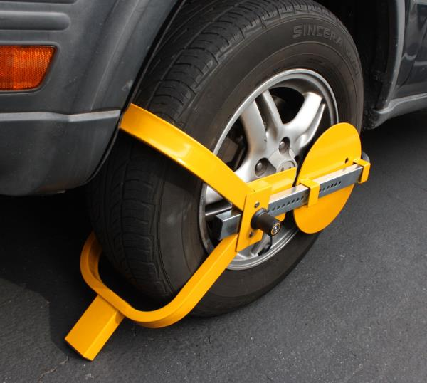fits 13 to 17 Inch Wheels ECD Germany Wheel Claw Anti-Theft Device Parking Car Vehicle Van Caravan Tire Protective Wheel Clamp Security Lock Visual Deterrent