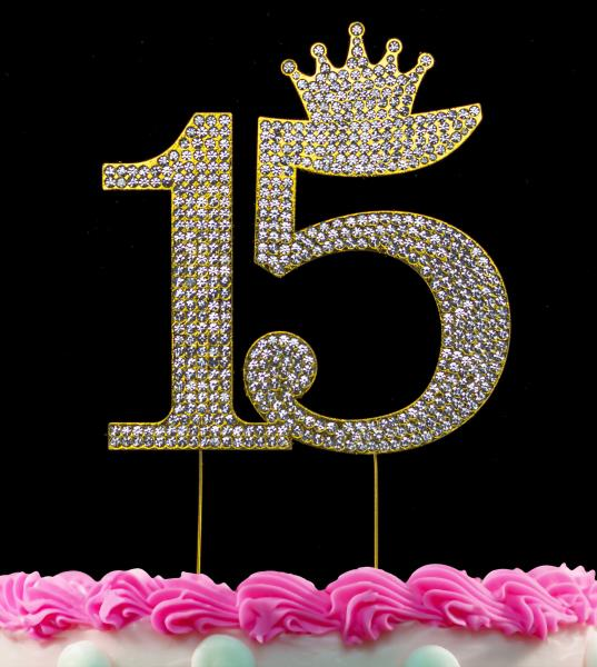 Marvelous 15Th Birthday Cake Toppers Quinceanera Cake Topper Princess Crown Funny Birthday Cards Online Eattedamsfinfo
