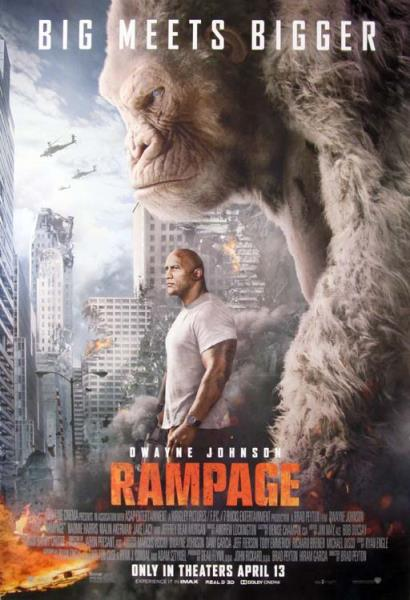 A0 A1 A2 A3 Maxi Rampage Movie The Rock Large Poster Wall Art Print