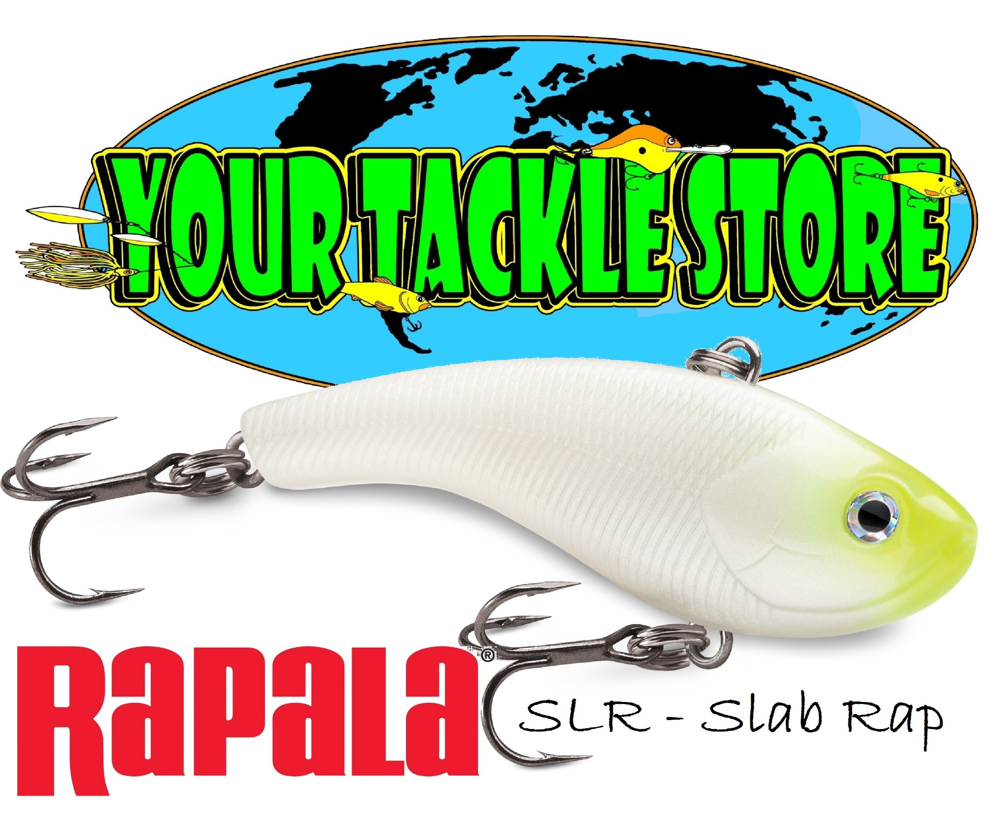 "Rapala Slab Rap 05 SLR05-CH Chrome 2/"" 1//4 oz Ice Fishing Lure"