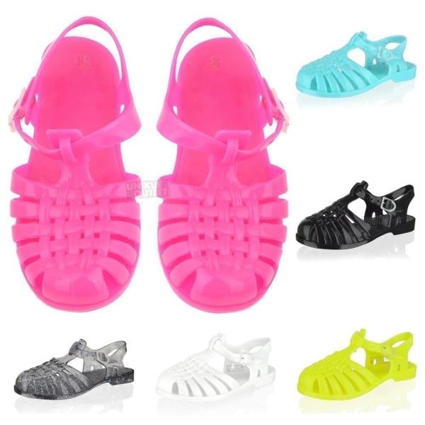 Girls jelly sandals shoes summer holiday beach