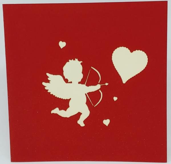 Cupid Valentines Day Anniversary Card I Really Love You More Than My Phone