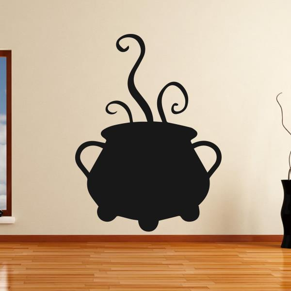 Bubbling Cauldron Cook Pot Witches Halloween Wall Art Sticker AS10313