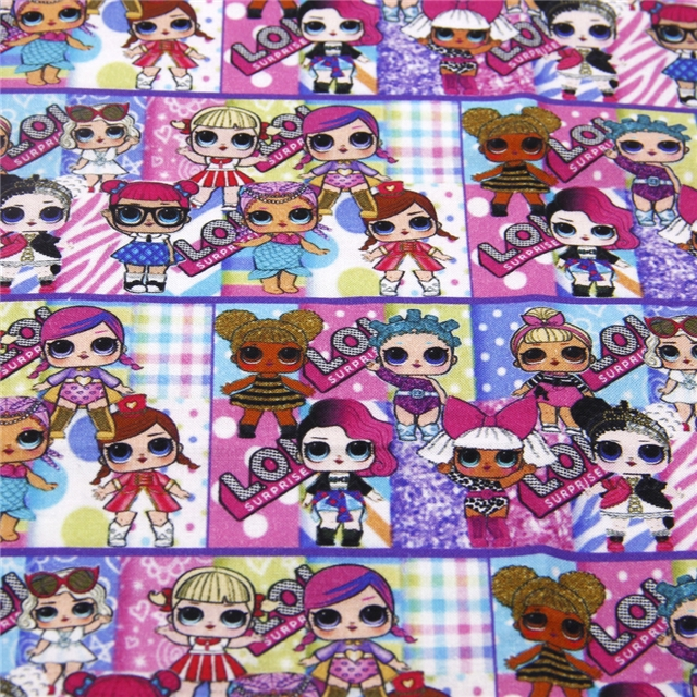 Printed Bow Fabric A4 Canvas Lol Colour Me In 12 Designs Available