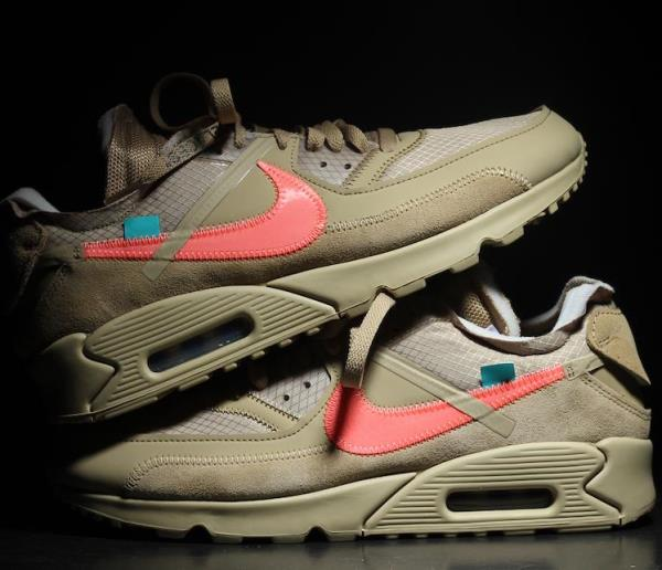 Details about NIKE Air Max 90 x Off White Desert Ore Beige Size 8 9 10 11 12 Mens AA7293 200