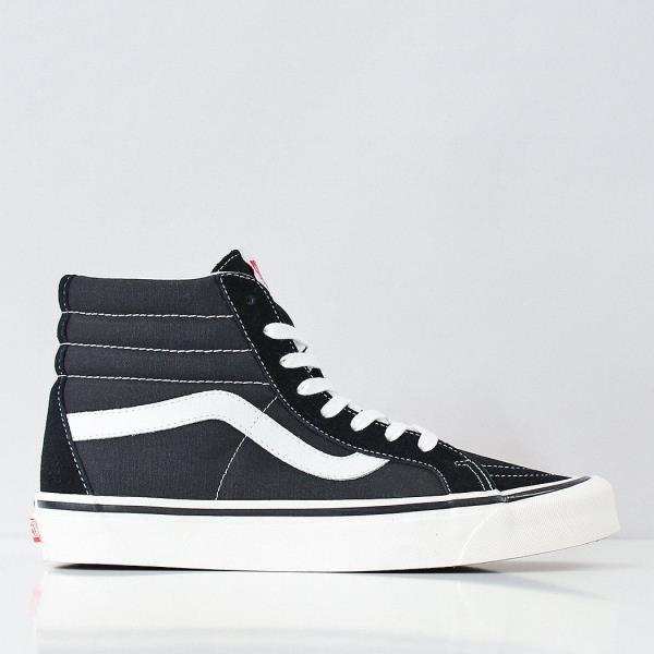 Details zu Vans Men's New SK8 Hi 38 DX Suede Canvas Trainers Anaheim Factory Black White