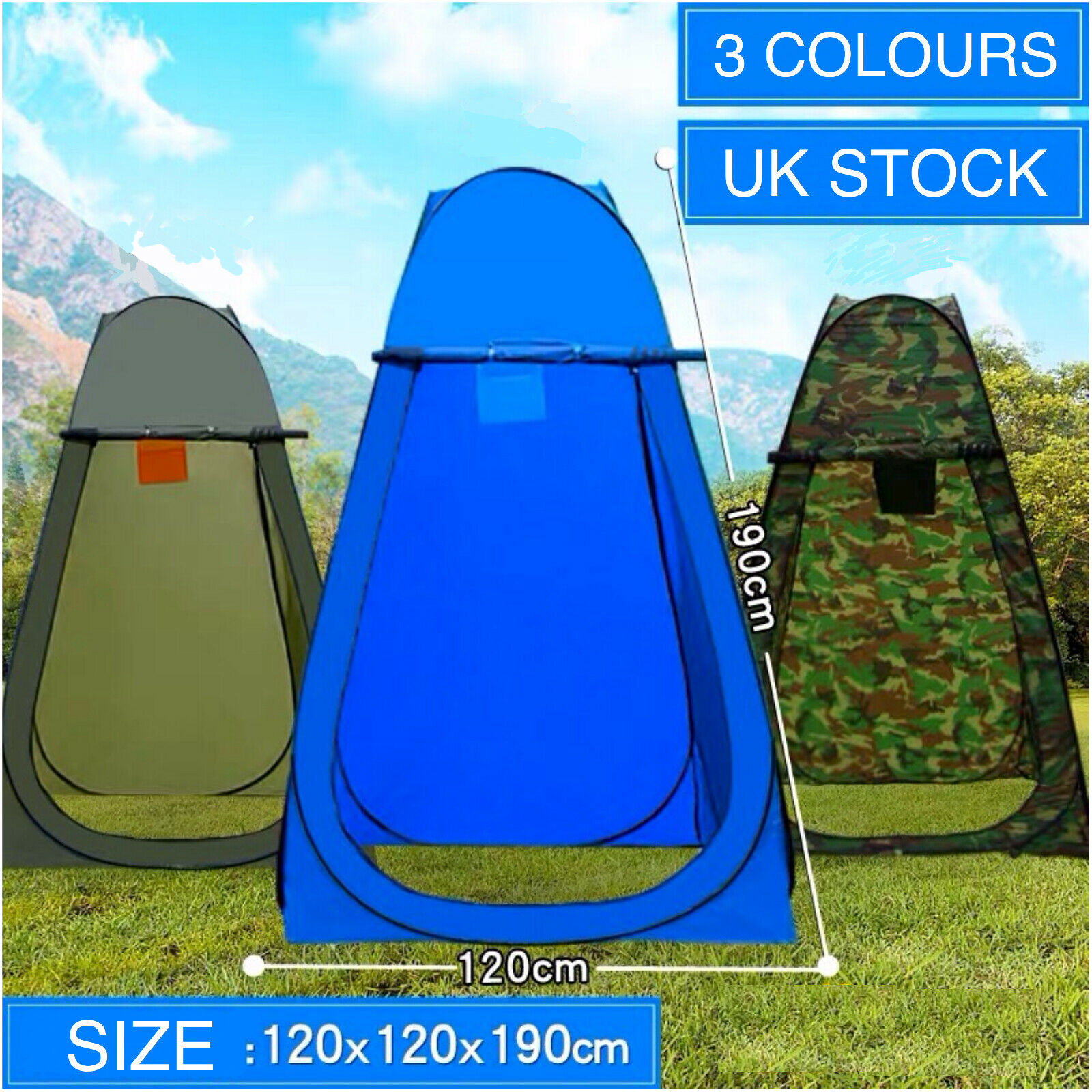 Details about Portable Pop Up Tent Privacy Changing Room Outdoor Toilet Shower Changing Tent