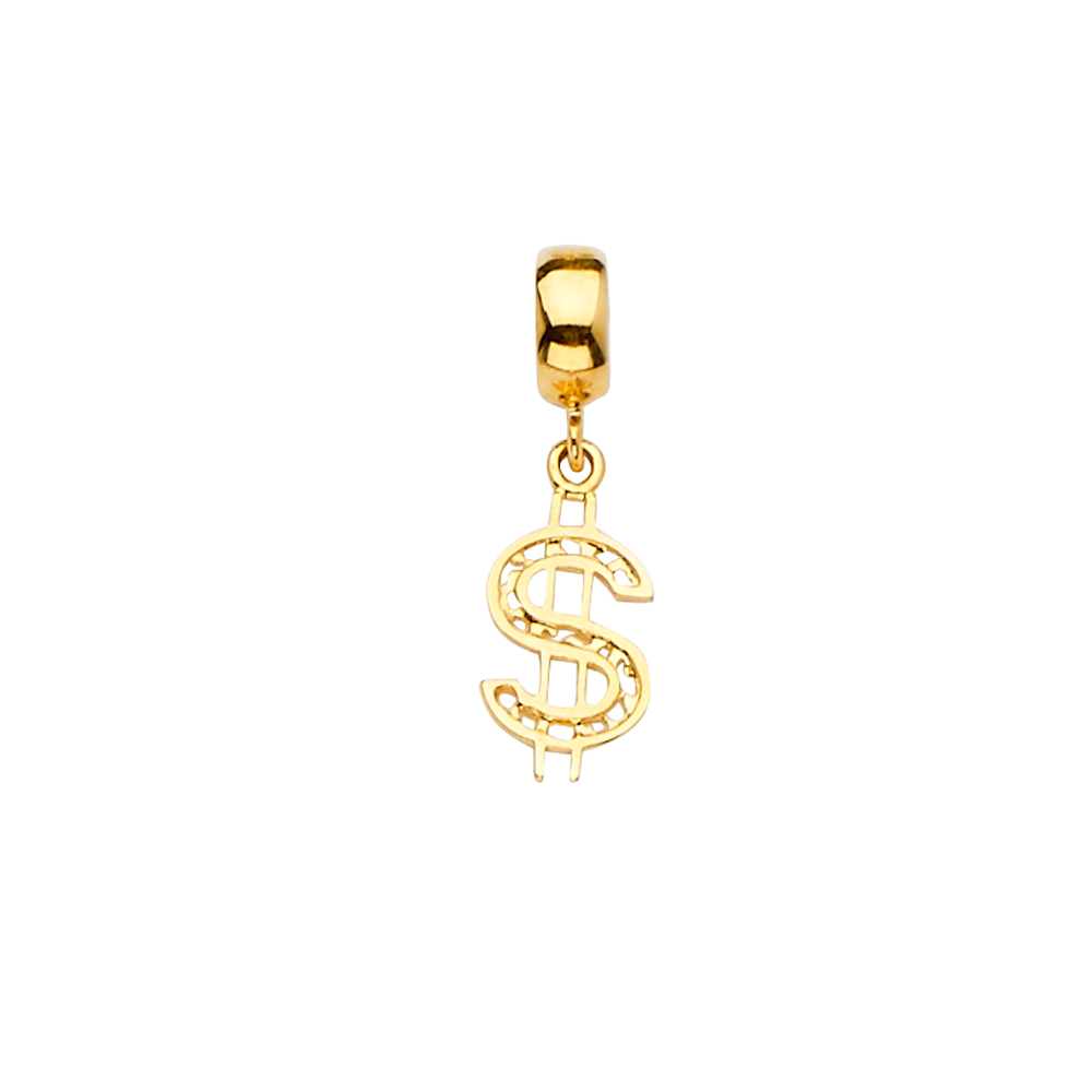 14K Yellow Gold Sandal Charm Pendant Mix and Match For Bracelet or Necklace or Chain Ioka