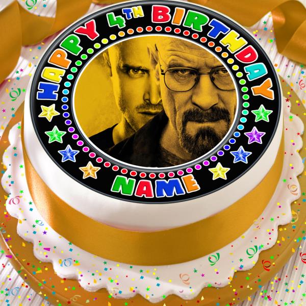 Miraculous Breaking Bad Birthday Personalised 7 5 Inch Precut Edible Cake Funny Birthday Cards Online Overcheapnameinfo