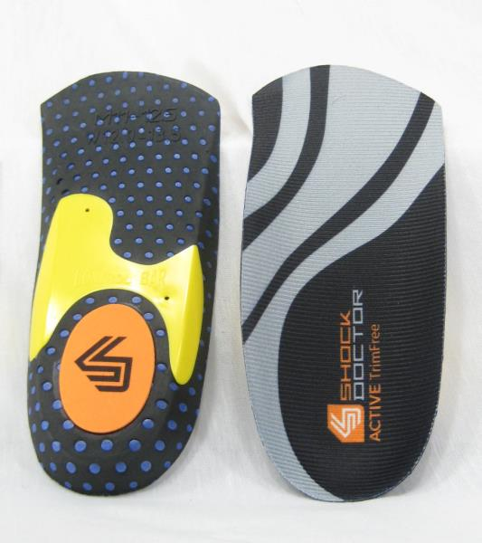 Shock Doctor Active Ultra 2 Insole Mens and Womens sizes footbeds