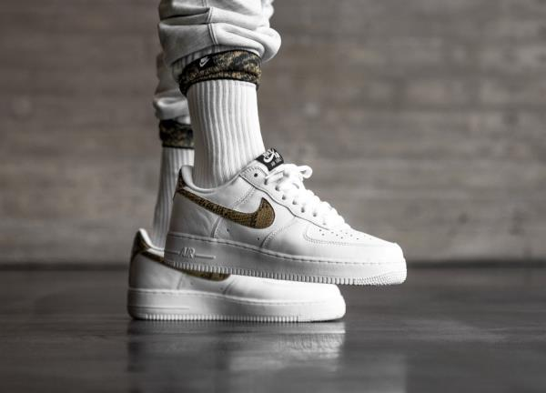 Nike Air Force 1 Low Prm Qs Ivory Snake White Size 8 9 10 11 12