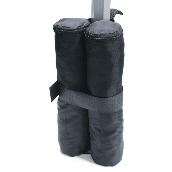 Set 4 Black Canopy Shelter Weight Bags Portable Sand Rock ...