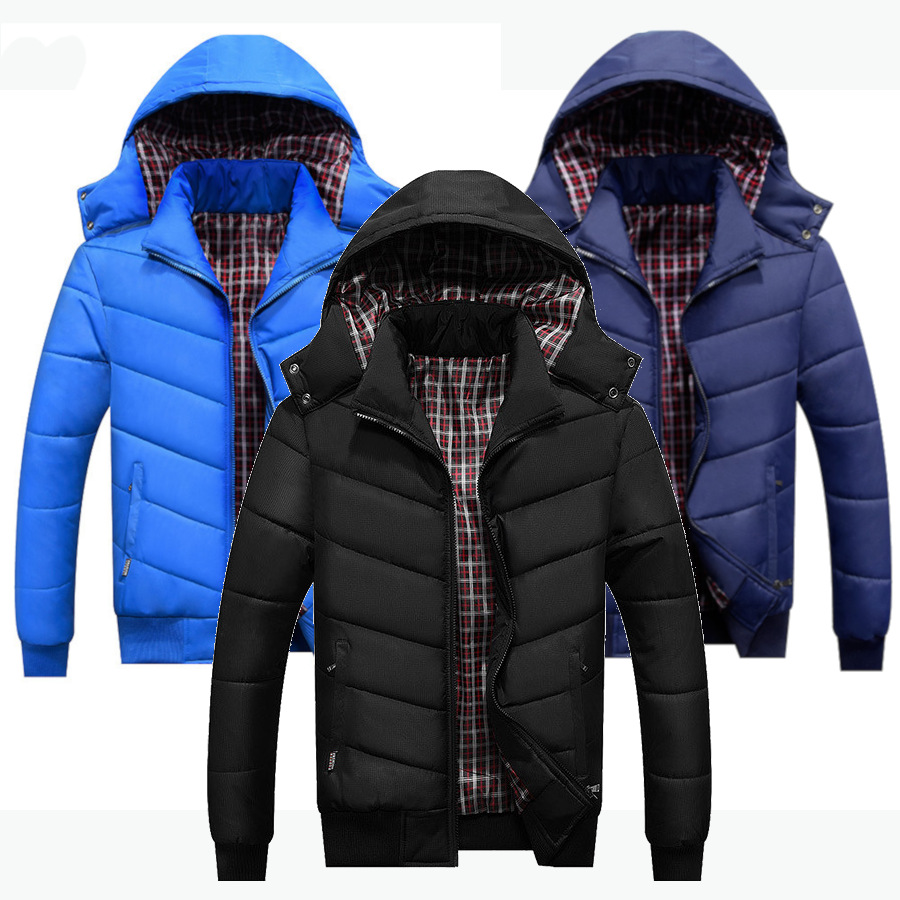 Men's Winter Puffer Vest Removable Hooded Quilted Warm