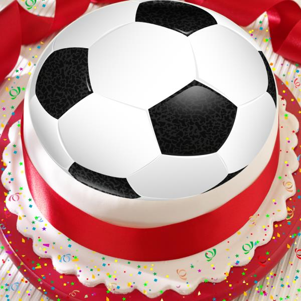Strange Football Black White Soccer Ball 7 5 Inch Precut Edible Birthday Personalised Birthday Cards Paralily Jamesorg