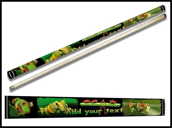Green Frog Ash Custom 2-Piece Pool Cue Stick Nature Gift ADD NAME