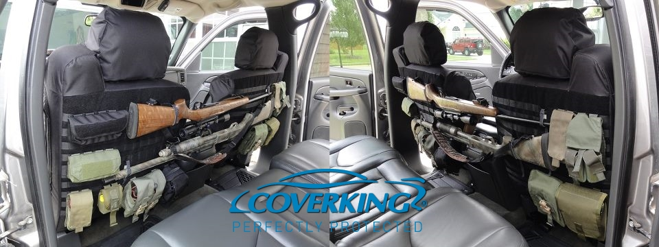 Coverking Cordura Ballistic Heavy Duty Front Custom Seat Covers for Ford F150