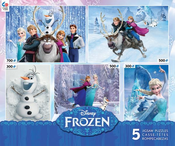 Walt Disney Frozen Animated Movie Five Different Jigsaw Puzzles in 1 NEW SEALED
