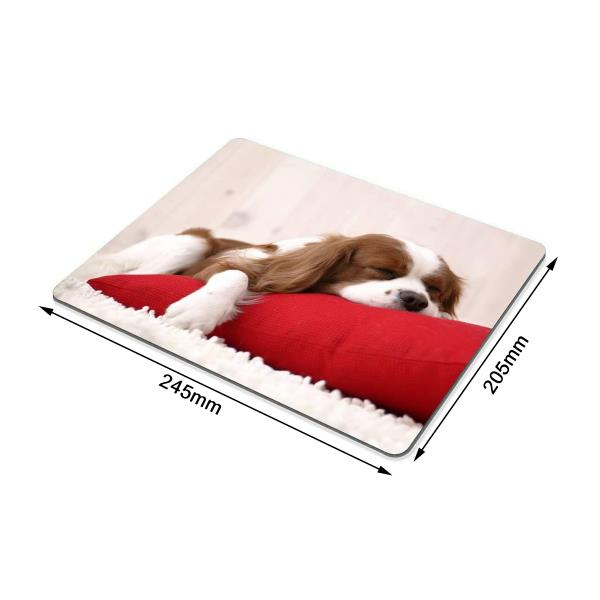 Funny Dog Mouse Pad Red, Cute Puppy Design, AntiSlip Mice Computer Mouse Pad Mat