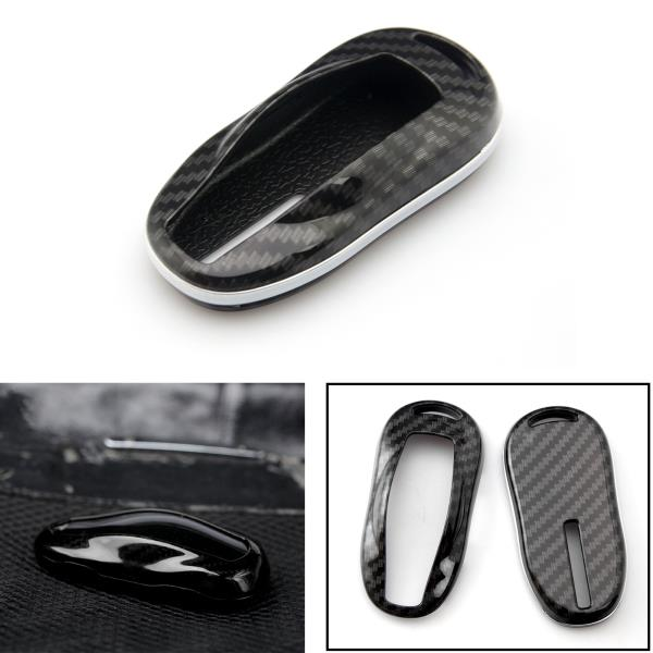 Carbon Grain Style Smart Key FOB Cover Case For Tesla Model X 2016-2019 Remote