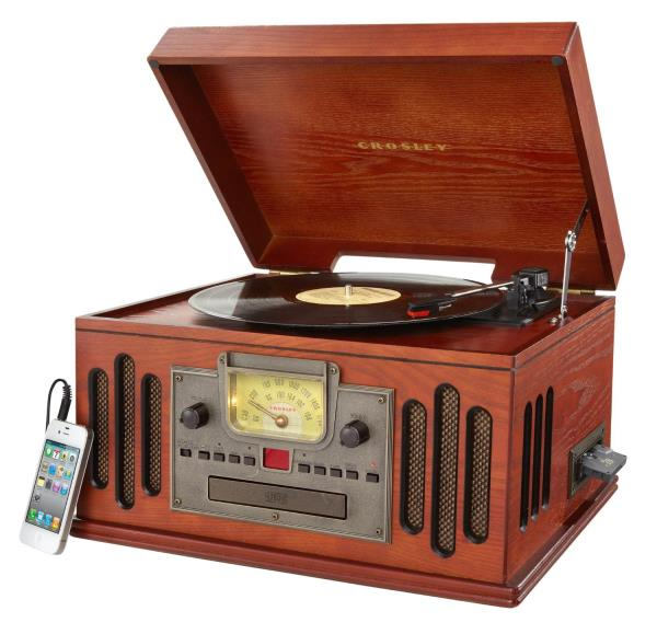 Victrola Vintage Style Wooden Bluetooth Table AM FM Radio CD Player Retro