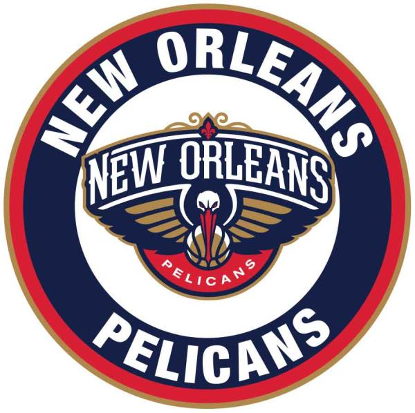 Details About New Orleans Pelicans Circle Logo Vinyl Decal Sticker 5 Sizes