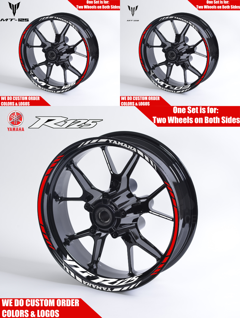 Rim Sticker Motorcycle Ducati S4RS Look Set Many Colours