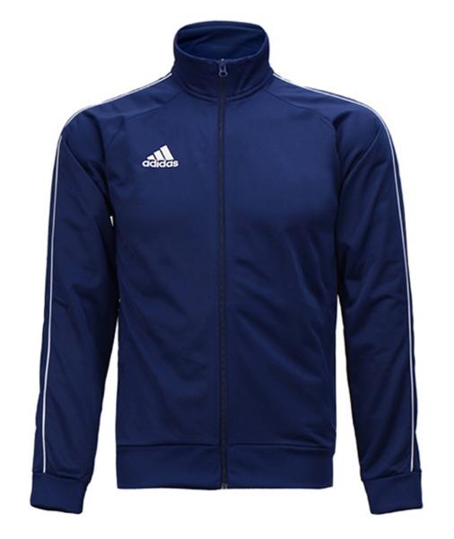 Details about Adidas Men Core 18 PES Track Training Jacket Navy Running GYM Top Jackets CV3563