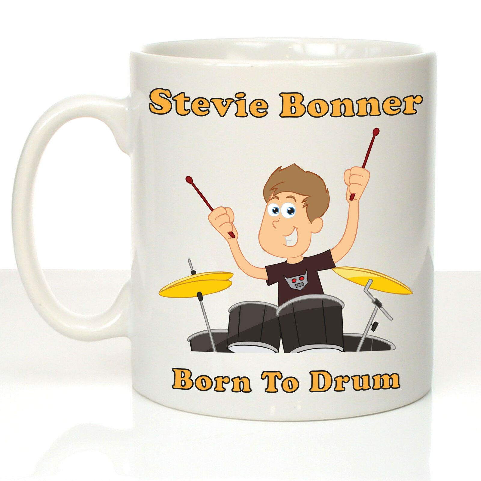 Drumming Gift Personalised Drumming Mug Drummers Gift For Ladies Crazy Tony/'s