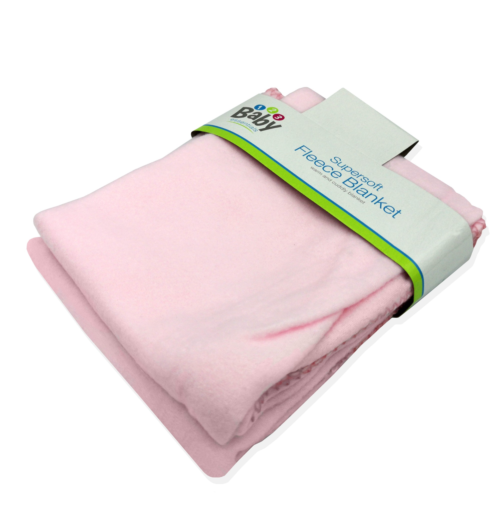3 x Super Soft Fleece Blanket Wrap Baby Newborn Throw 70cmx70cm Blue White Pink