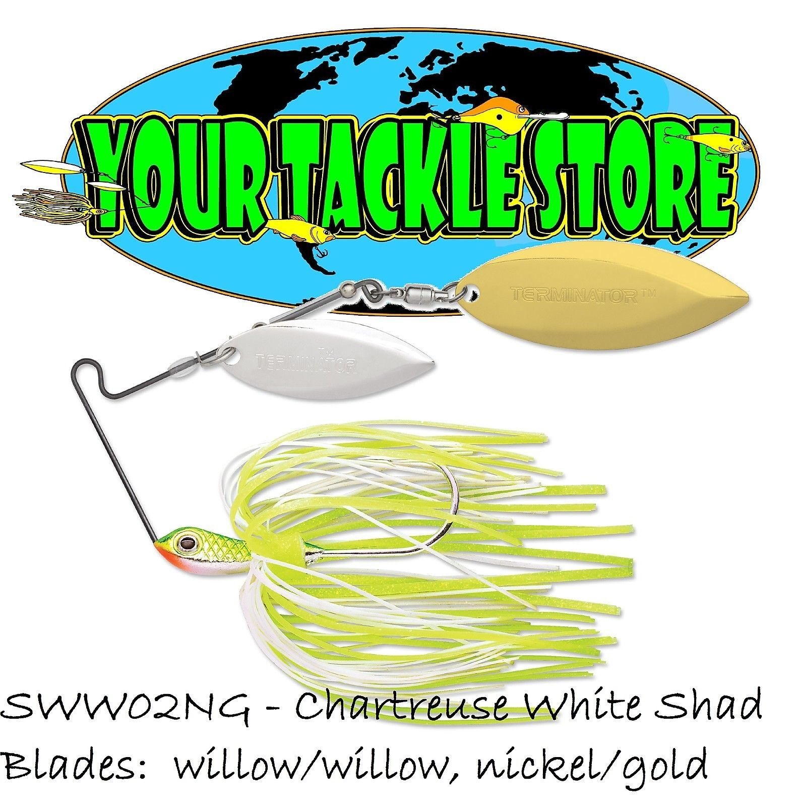 Terminator SWW Super Stainless Spinnerbait Willow Willow 3//8 or 1//2oz You Pick