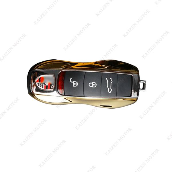 Yellow ABS Remote Key Case Shell Cover Holder Fob For Porsche Cayenne 911 Paname