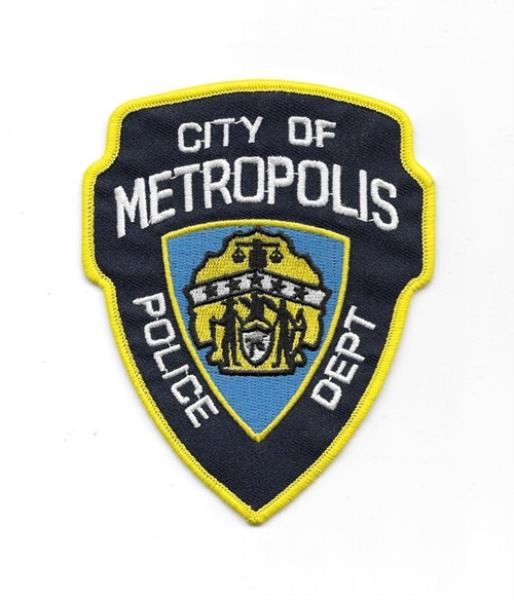 Superman City Of Metropolis Protector Logo Embroidered Patch NEW UNUSED