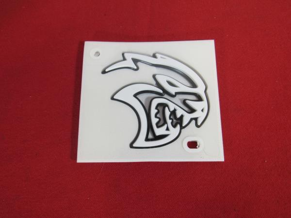 2x OEM Hollow Hellcat Emblems 3D Nameplate Badge for Hellcat Red Genuine