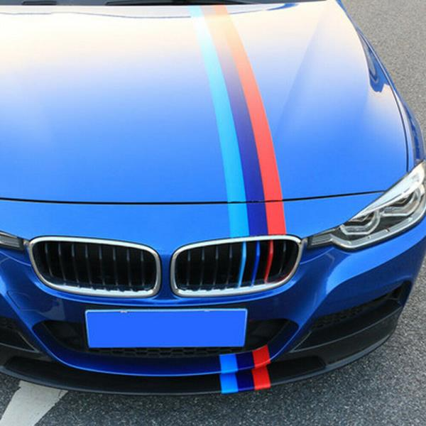 """10/""""x59/"""" M Racing Stripe Car Sticker Decal For BMW Exterior Hood Roof Bumpers L"""